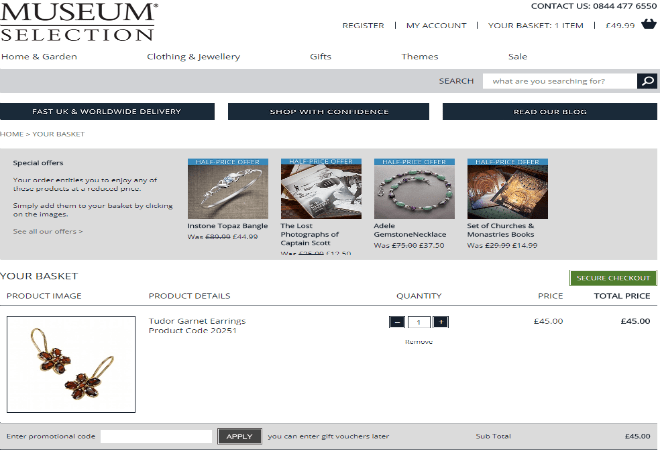 museum selection discount code