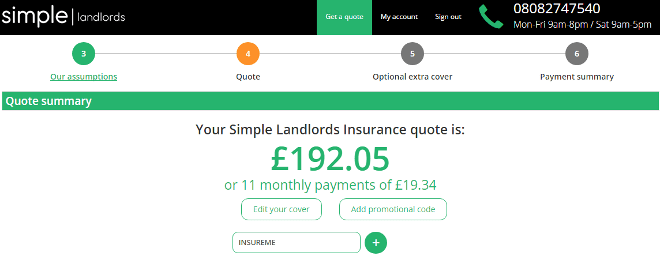 simple landlords insurance promo code