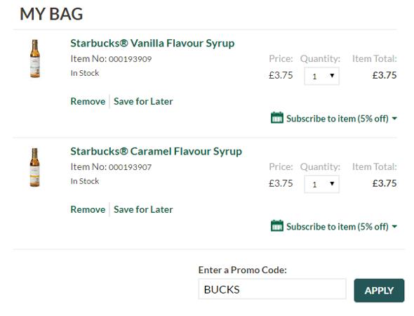 starbucks voucher code