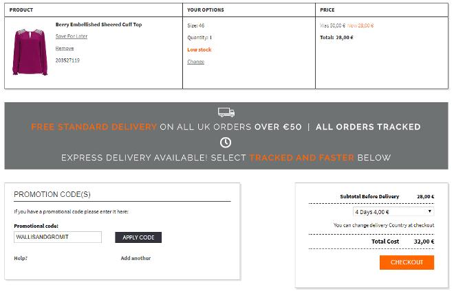wallis discount code 2017