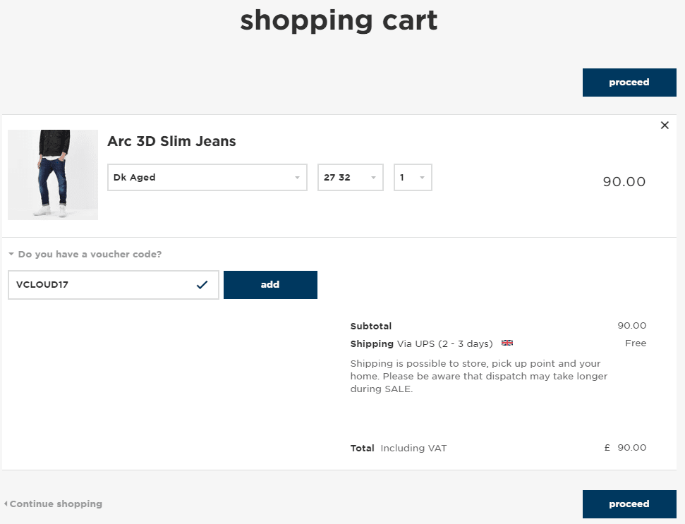 How to use a gstar raw discount code