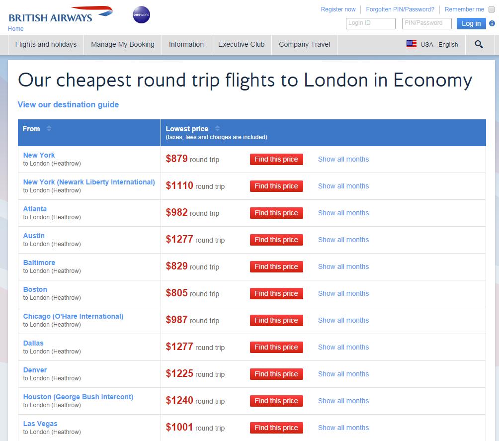 British airways discount coupons