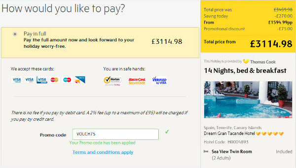 50 off thomas cook discount codes for october 2018