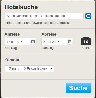 Hotel-Suchfunktion