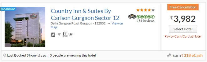 Booking Hotels on Yatra
