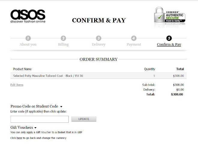 Pay Confirmation