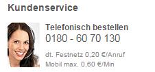 Telefonische Bestellung bei Orion