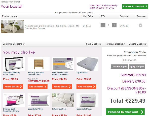 Bensons for Beds discount code