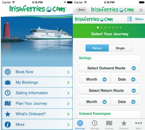 Irish Ferries Mobile App
