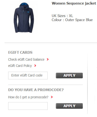 North face coupon codes